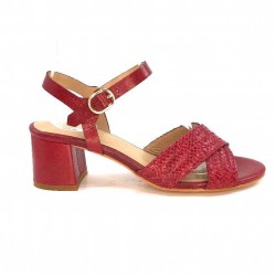 Ivoire Ks20-47 Cuir Rouge KS 20-47 - CUIR TRESSE - RED Printemps Eté 2020